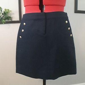 J.crew  navy skirt